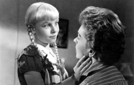 The Bad Seed (1956) Directed by Mervyn LeRoy Shown: Patty McCormack (as Rhoda), Nancy Kelly (as Christine Penmark)