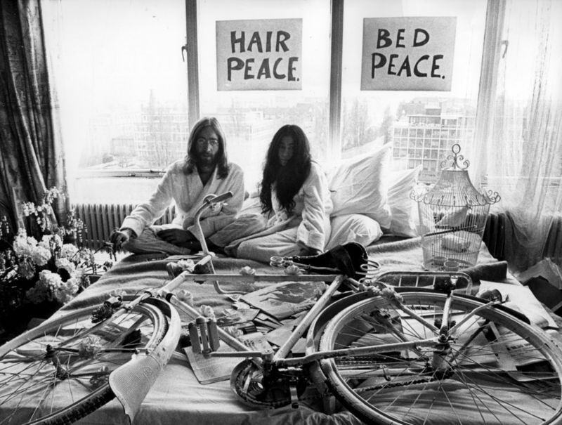 John Yoko White Bicycle