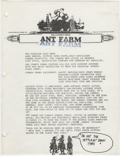 ant farm cowboy nomad